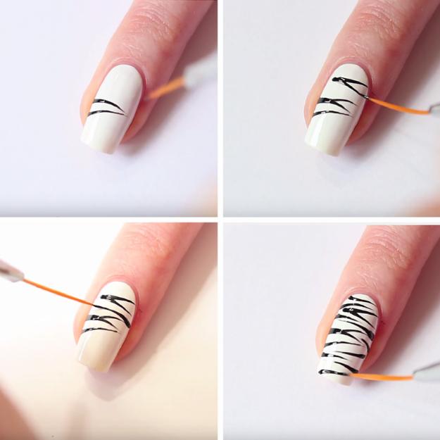 Nail Art Designs Zebra Print